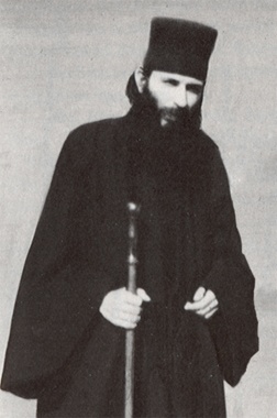 Young Monk Panteleimon, who called himself an elder while still in his twenties.